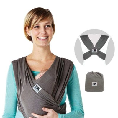 baby ktan breeze charcoal with back view inset