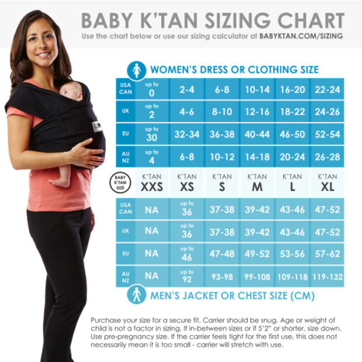baby ktan breeze sizing chart