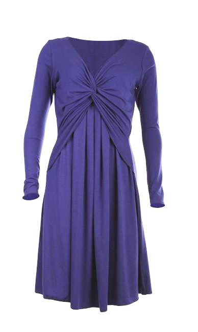 Egg Maternity Twist MIlkbar Dress long sleeve blue version
