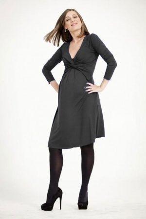 Egg Maternity Twist Milkbar Dress black version