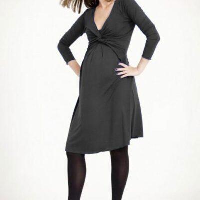 Egg Maternity Twist Milkbar Dress black version