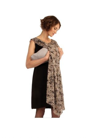 Japanese Weekend Chiffon Beauty Dress showing mum nursing