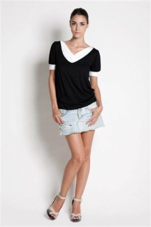 dote slate breastfeeding top in black