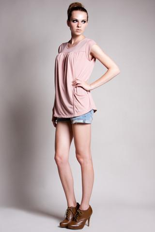 DOTE Lindsay Pocket Nursing Top in blush side view