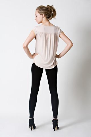 DOTE Lindsay Pocket Nursing Top back view in beige