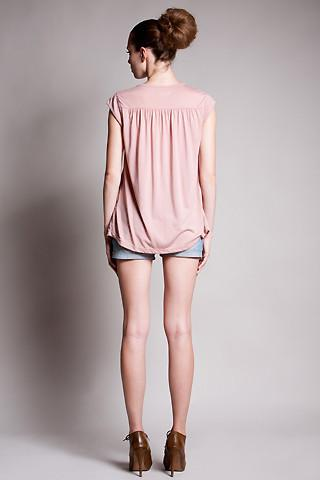 DOTE Lindsay Pocket Nursing Top in blush back view