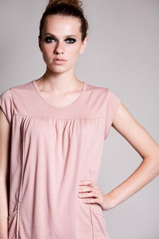 DOTE Lindsay Pocket Nursing Top in blush close up