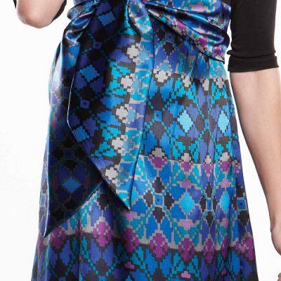 Maternal America Scoop Neck Front Tie Dress skirt close up
