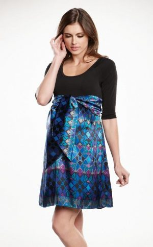 Maternal America Scoop Neck Front Tie Dress skirt