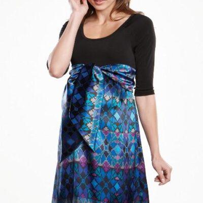 Maternal America Scoop Neck Front Tie Dress skirt