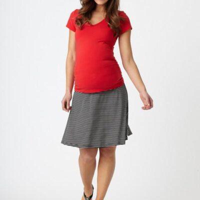 Pea in A Pod Striped Maternity Flip Skirt