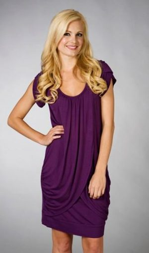 Maternalove Petal Nursing Breastfeeding Dress in purple