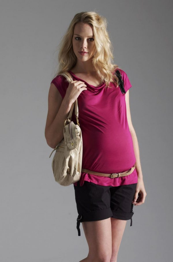 Esprit Maternity Short Sleeved Beaded Tee
