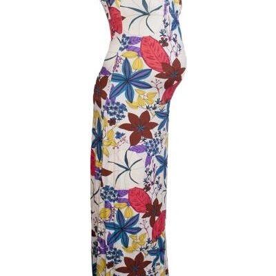 Queen Mum Floral Maxi Maternity Dress
