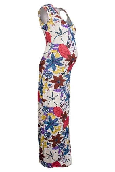 Queen Mum Floral Maxi Maternity Dress