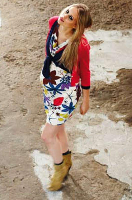 Queen Mum Cowl Neck Maternity Dress