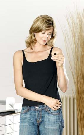 Emma Jane Nursing Cami Top black