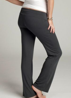 pregnant woman wearing Ingrid & Isabel lounge pants showing back view