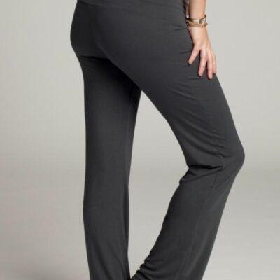 pregnant woman wearing Ingrid & Isabel lounge pants showing back view