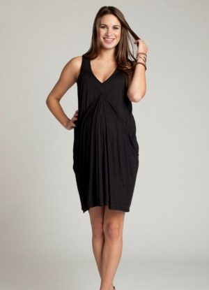 Ingrid & Isabel Waterfall Dress in Black