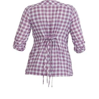 Queen Mum Voile Check Maternity Blouse back view