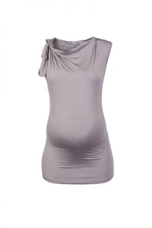Queen Mum Tie Shoulder Maternity Top front view