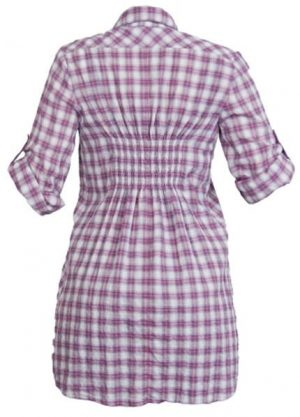 Queen Mum Classic Voile Check Maternity Shirt