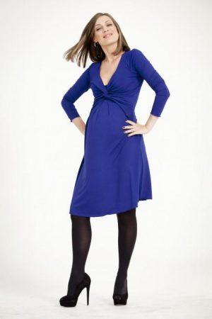 Egg Maternity Twist Nursing Dress Black