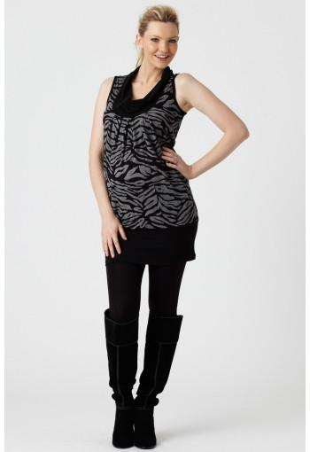 Pea in A Pod Cowl Neck Tunic shown from left side