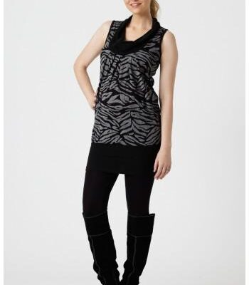 Pea in A Pod Cowl Neck Tunic shown with black pants