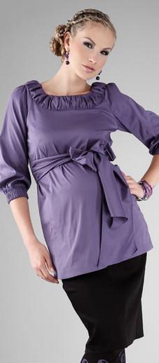 Happy Mum Bellis Violet Maternity Shirt