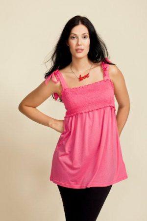 Boob Nursingwear Smocked Nursing Cami in Apricot