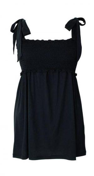 Boob Nursingwear Smocked Nursing Cami in black