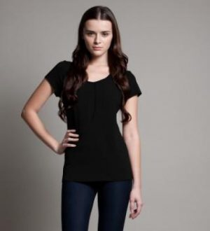 DOTE Keyhole Nursing Top black