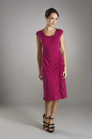 Maternalove Bijou Nursing Dress in berry