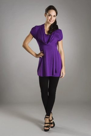 Maternalove Corinne Nursing Top Purple
