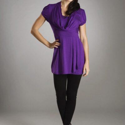 Maternalove Corinne Nursing Top Purple