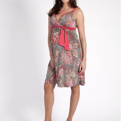 Szabo Tapestry Twist Floral Maternity Dress