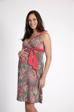 Szabo Tapestry Twist Floral Maternity Dress