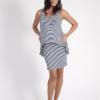 Szabo Peplum Striped Maternity Dress