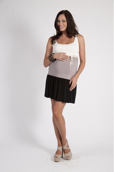 Szabo Tiered Maternity Dress