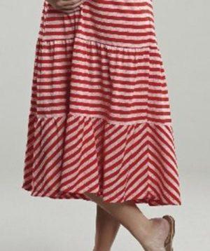 Maternal America Convertible Strapless Skirt Dress close up of skirt