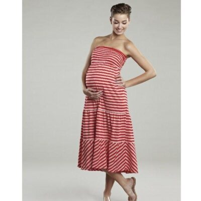 Maternal America Convertible Strapless Skirt Dress