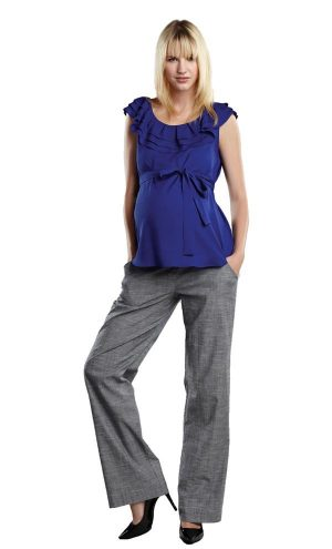 Maternal America Layered Ruffle Neck Maternity Top