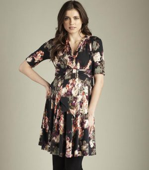 Maternal America Mini Front Tie Maternity Dress