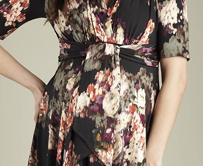 Maternal America Mini Front Tie Maternity Dress