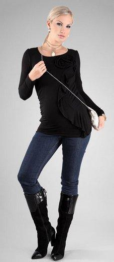 Happy Mum Lolly Maternity Top black