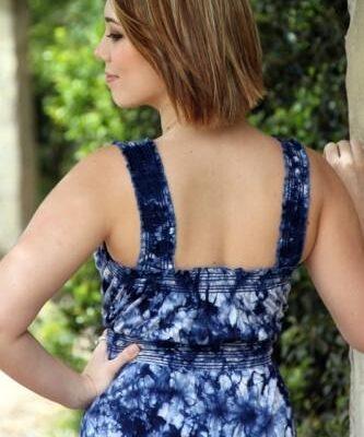Goosebumps Sarah Maxi Nursing Dress back view