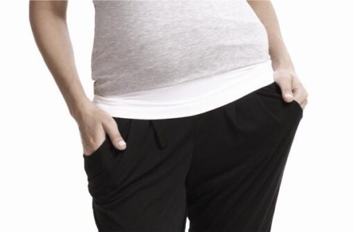 Bando the essential seamless maternity belly band mixed with existing wardrobe