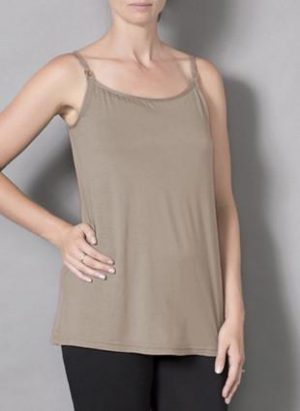 Laila & Spot Breastfeeding Singlet in mushroom brown